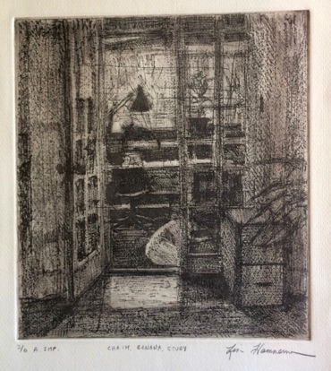 Study in Jenkintown Etching